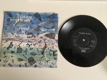 TALKING HEADS / ROAD TO NOWHERE / VINYL SINGEL FRÅN 1985.