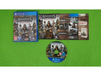 Javascript är inaktiverat. - Västerhaninge - Assassins Creed Syndicate till Playstation 4Skick enligt bild.Fungerar på din svenska/europeiska konsol.Engelsk text/språk i spelet.Vid köp av fler varor med fraktkostnad betalar du endast högsta enskilda frakten, resten bjuder jag p