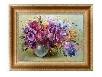 5D Diamant broderi 30x40cm Mosaik Embroidery blommor