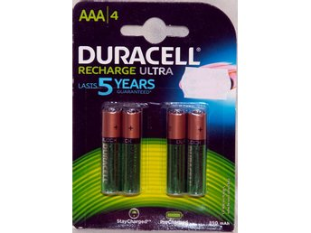 AAA Duracell Laddningsbara - 4 pack.