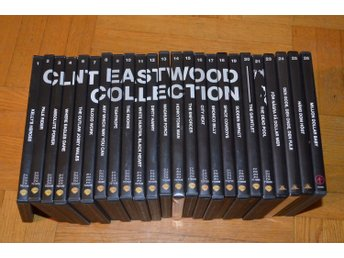 24 st Clint Eastwood Collection 1-26 24-Disc DVD Samling