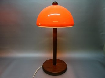 RETRO BORDSLAMPA TEAK ORANGE PLAST