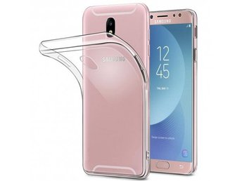Galaxy J3 2017 Silikon skal Transparent Färg: Transparent