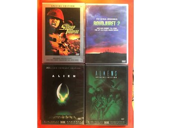 Sci fi Action klassiker 4 st - Alien / Aliens / Rovdjuret / Starship Troopers - Bollebygd - Sci fi Action klassiker 4 st - Alien / Aliens / Rovdjuret / Starship Troopers - Bollebygd