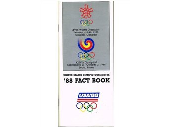 UNITED STATES OLYMPIC COMMITTE '88 FACKT BOOK Calgary/Seoul