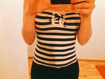 randig tubtopp, marinblå, vit, sailor xs - Helsingborg - randig tubtopp, marinblå, vit, sailor xs - Helsingborg