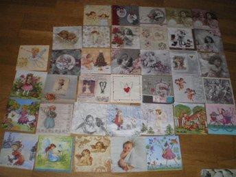 37 servetter Blandade motiv, änglar, älvor , barn motiv - Västerås - 37 servetter Blandade motiv, änglar, älvor , barn motiv - Västerås