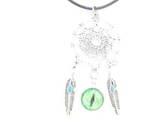 Onda ögat drömfångare halsband / Evil eye dreamcatcher necklace