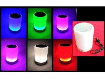 Party Lautsprecher BLUETOOTH TOUCH LED-Lampe kabelloser mit 6 Farben 2in1 .
