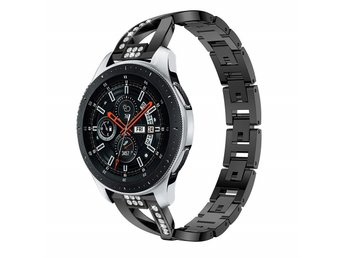 Armband Samsung Galaxy Watch 46mm Gear S3 Frontier/Classic - svart