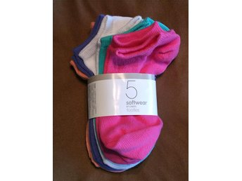 5 Par Softwear Footies Strumpor Sockar Stl. 28-30