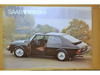 ORIGINAL AFFISCH 70x100  SAAB 99 TURBO 1978