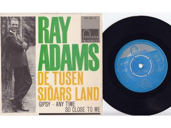 RAY ADAMS - DE TUSEN SJÖARS LAND - EP  1962 Sweden