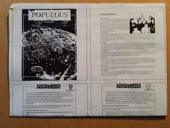 Populous (Bullfrog, Electronic Arts, Empire) Manual 1989