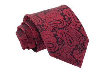 Burgundy paisley mönstrad slips _ Regular
