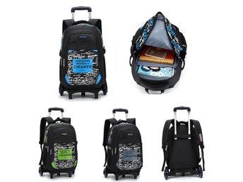 Trolley Backpack Children School Bags with 6 Wheels Child...