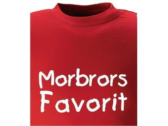 T-SHIRT Morbrors Favorit nr 214 120cl  Röd