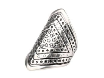 Ring Silver med Blommor Bohemian Chic 17 mm