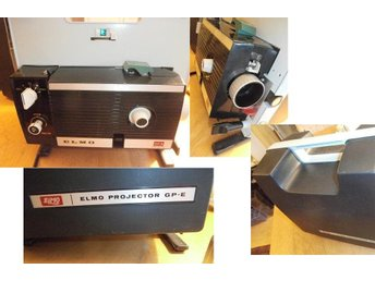ELMO GP-E STANDARD 8mm&SUPER  8mm ADJUST SPEED MOVIE PROJECTOR Made in JAPAN