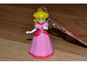 Princessan Peach 3D Mini Nyckelring (Super Mario) Nintendo Officiell 3D Ny