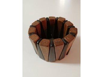 Retro armband extra brett trä brun.. (322506748) ᐈ vintagecorner på ... 646b0818dd53b