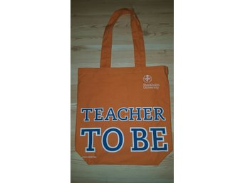 Tygväska, orange, Stockholms universitet, väska, Tote Bag