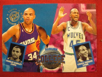 CHARLES BARKLEY & CHUCK PERSON - COLLEGE TEAMMATES - 94 SC - BASKET