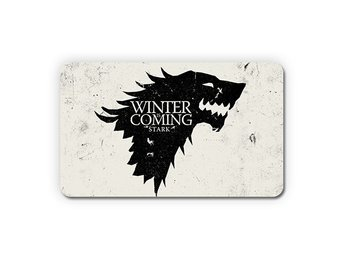 Winter Is Coming Direwolf House Stark Wolves Kylskåpsmagnet