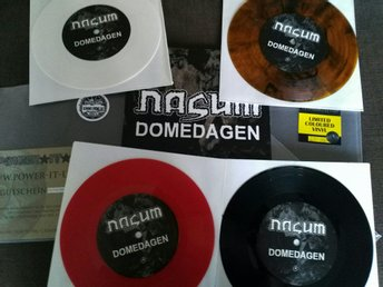 "Nasum - Domedagen 7"" vinyl Amber, röd, vit, svart (entombed disfear skitsytem) - Bromma - Nasum - Domedagen 7"" vinyl Amber, röd, vit, svart (entombed disfear skitsytem) - Bromma"