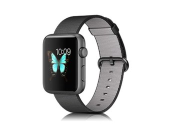 Xincuco Apple Watch 42mm nylon klockarmband - Svart