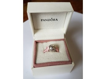 "PANDORA berlock ""surrounded by love cz "" retired s925 ALE sterling silver"