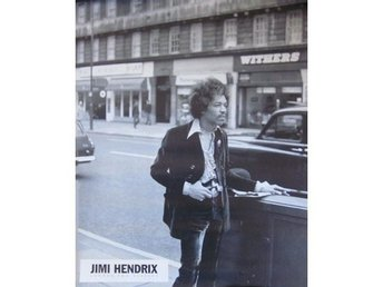 Jimi Hendrix-Private photo as poster late 60s size 40x50 cm