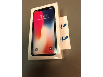 iPhone x 64 gb svart olåst