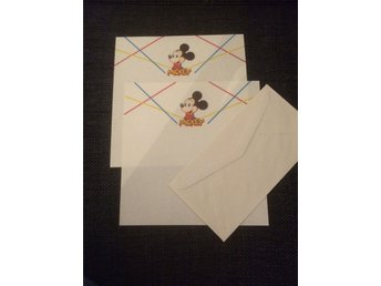 Brevpapper Disney Mickey Mouse 80-tal retro