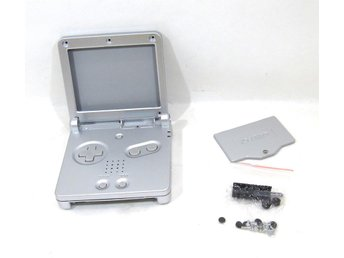 GBA SP nytt skal - silver - Game Boy Advance