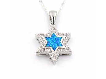 925 Sterling Silver Opal David Star Necklaces Pendant Hot Sale Pure Silver