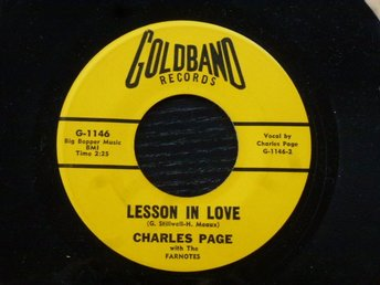 CHARLES PAGE - I don't want to cry/Lesson in love  Goldband USA