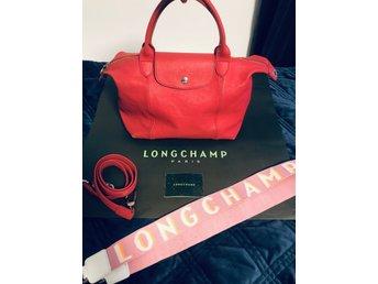 Longchamp Le Pliage cuir väska i skinn läder