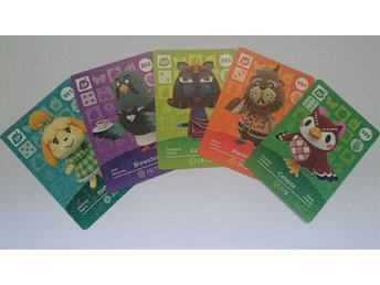 Animal Crossing Amiibo Cards series 4 Nr 301 - 305