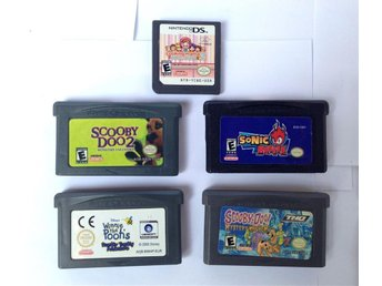 5 spel till GBA & Nintendo DS - Scooby-Doo, Sonic Battle, Cooking Mama 2
