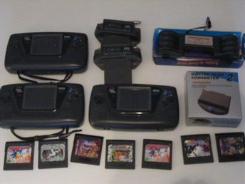 Sega Game Gear paket med spel, tv tuner