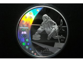 CANADA 25 DOLLARS 2007 VANCOUVER OLYMPICS 2010 CURLING HOLOGRAM