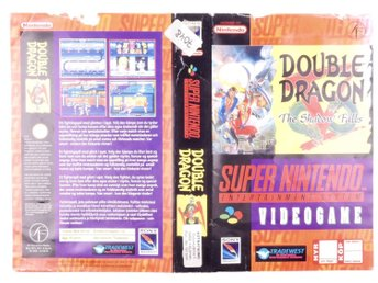 Double Dragon V: The Shadow Falls (Original Rental Cover Paper) -