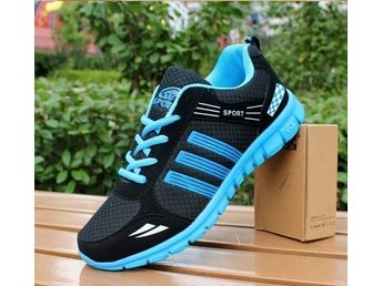 Running Shoes Strl 42, Herrskor mesh black with blue new