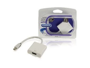 Bandridge Mini Displayport-Kabel Mini DisplayPort-hane - HDMI hane 0.20 m Vit