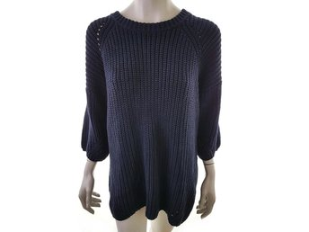 BY MALENE BIRGER Sweater Tunic Size S Navy blue Linen Denmark