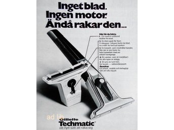GILLETTE TECHMATIC, TIDNINGSANNONS 1972