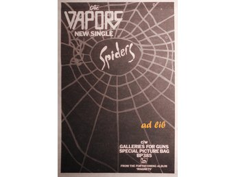 THE VAPORS - SPIDERS, TIDNINGSANNONS 1981