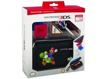 Nintendo 3DS Essentials Pack - Black Mario Print - Nintendo 3DS