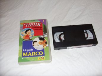 Heidi Volume 1 A Caminho da Montanha VHS PAL Portugal anime Japan film
